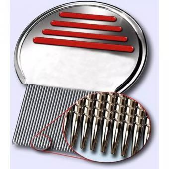 Sisir Kutu Ketombe Metal Nit Lice Comb - 4 .