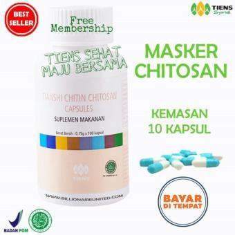 Tiens Masker Chitosan Herbal Anti Jerawat / Masker Kulit Berminyak / Masker Penghilang Jerawat / Masker