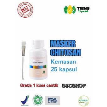 Tiens Masker Herbal Chitosan SSCSHOP (Promo Kemasan 25 kapsul, gratis 1 kuas cantik)