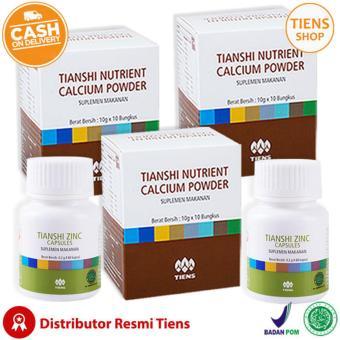 Tiens Peninggi Badan Herbal Paket 3 Promo 3 Kalsium 2 Zinc Free