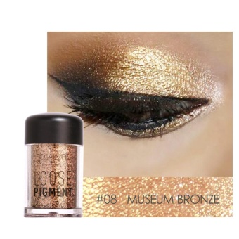 TMISHION Fashionable Glitter Eyeshadow Beauty Eyes Pigment Powder Lips Loose Makeup Tool (#8) - intl