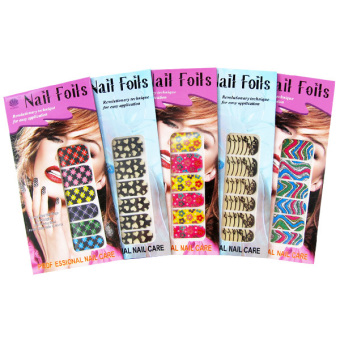 Detail Gambar TSH Nail Stiker Set Full - Model Trendy - 10 Kuku dan Variasi Modelnya