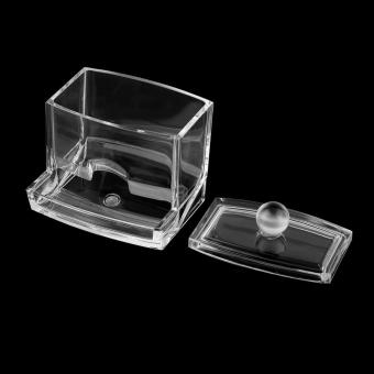 UINN Clear Acrylic Cotton Swab Organizer Box Cosmetic Holder Q-tip Makeup Storage ...