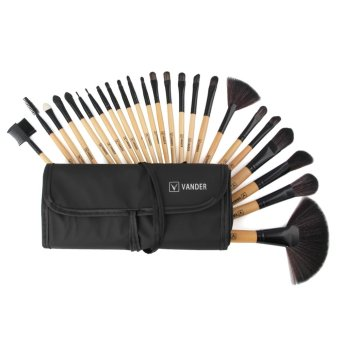 VANDER Make-up For You 24 Pcs Professional Cosmetic Makeup Brush Set Beige With Pouch