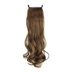 ... Sanggul Rambut Palsu Source · Wajar kolor ekor kuda di ekstensi rambut klip pada potongan rambut berwarna kuning muda