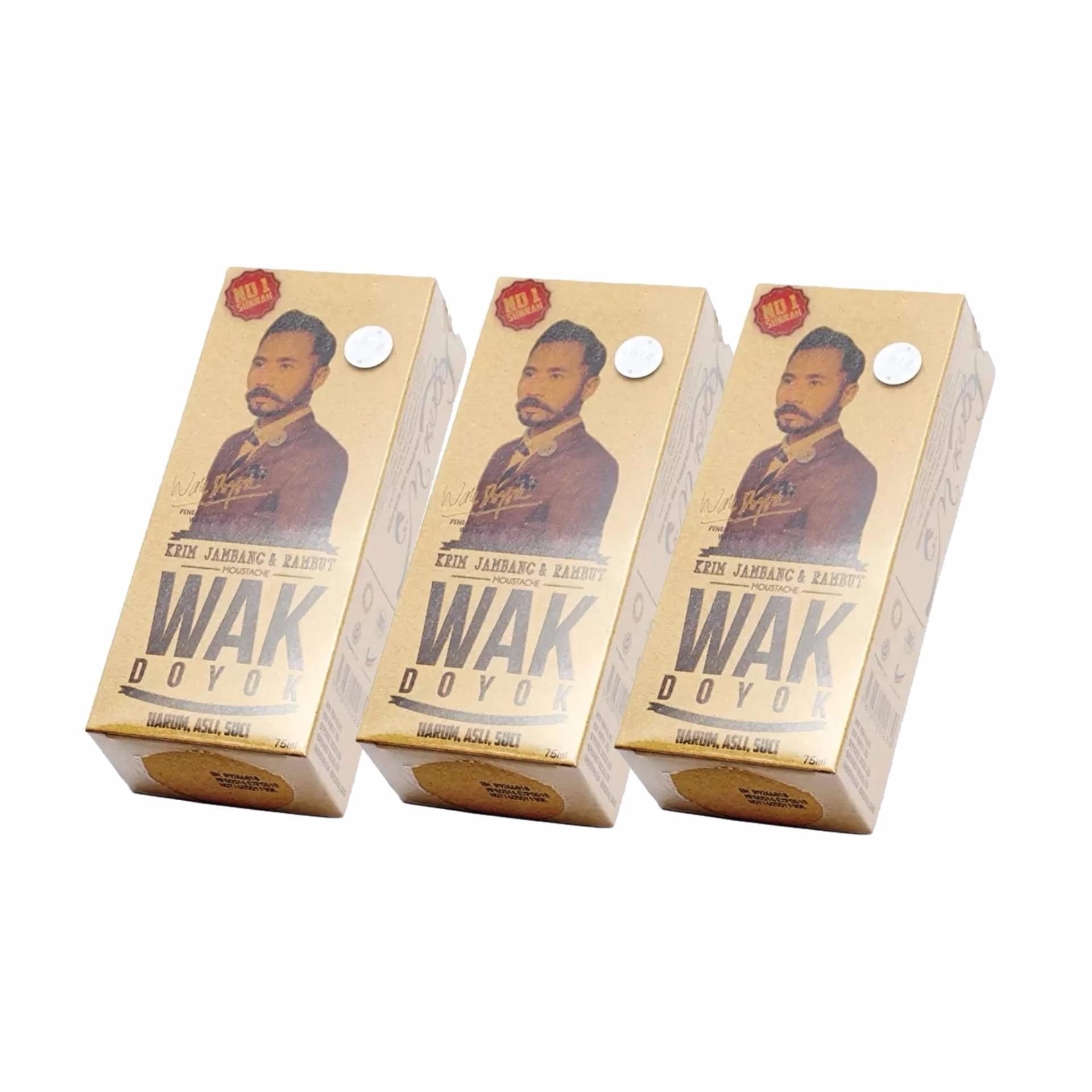 ... Wak Doyok Berhologram Original Cream Penumbuh Jambang Herbal - DadaKumis Bulu Jenggot Rambut - 75 ml ...