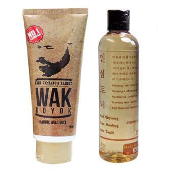 Wak Doyok Cream 75 ml & Red Ginseng Hair Tonic 250 ml