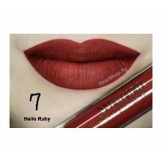 Wardah Exclusive Matte Lip Cream 07 Hello Ruby