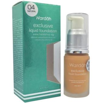 Wardah Exlusive 04 Natural Liquid Foundation