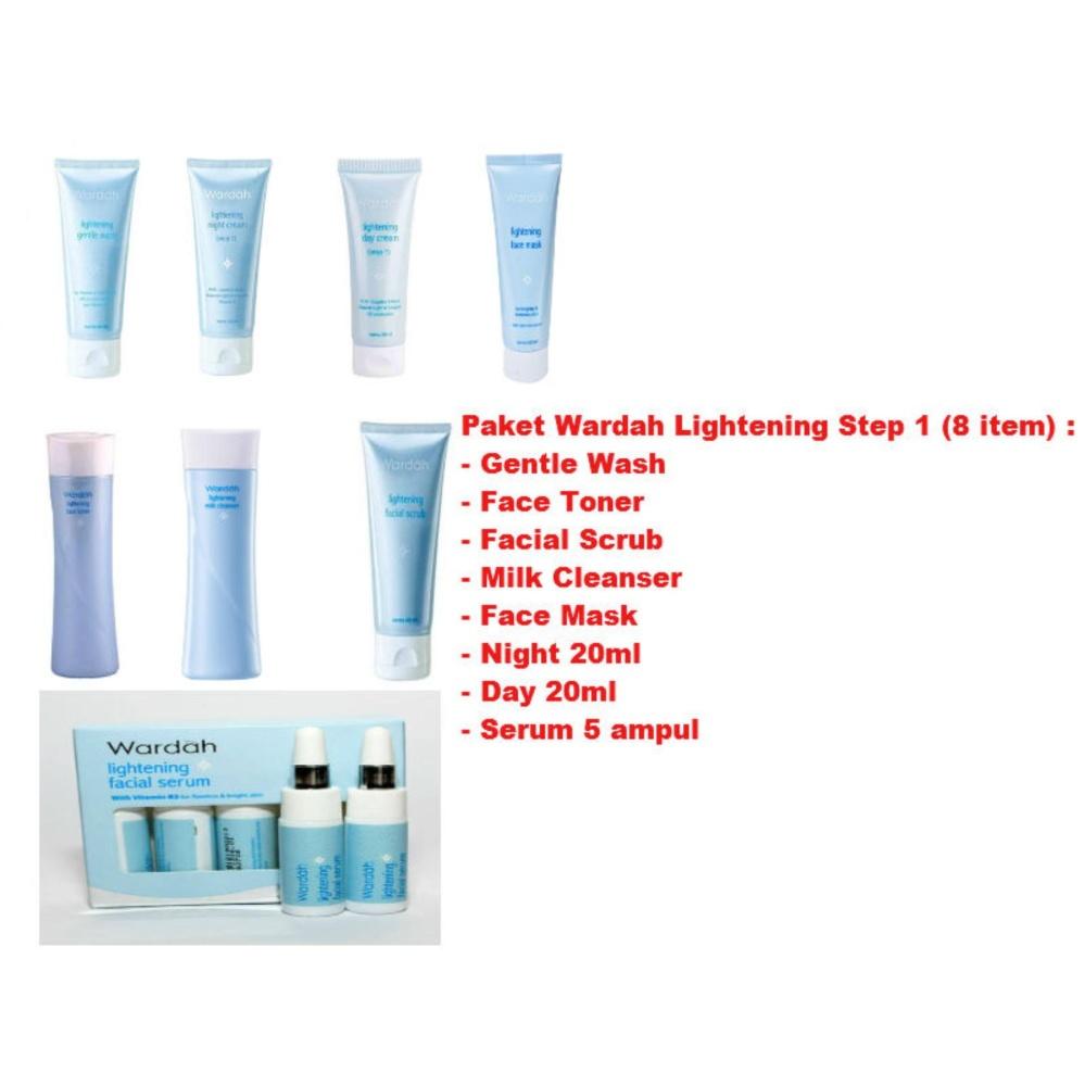 Harga Termurah Wardah Lightening Step 1 Paket 8 Item Face Mask