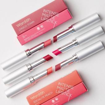 Wardah Longlasting Lipstick 08 Red Velvet - Warna pigmented Lipstik Matte - 3