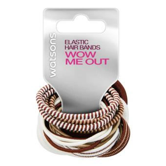 Watsons Elastic H/Band Brown 20's