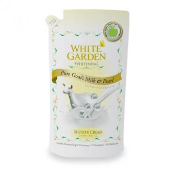 White Garden Shower Cream Pure Goat Milk&Pearl Reffil 900m
