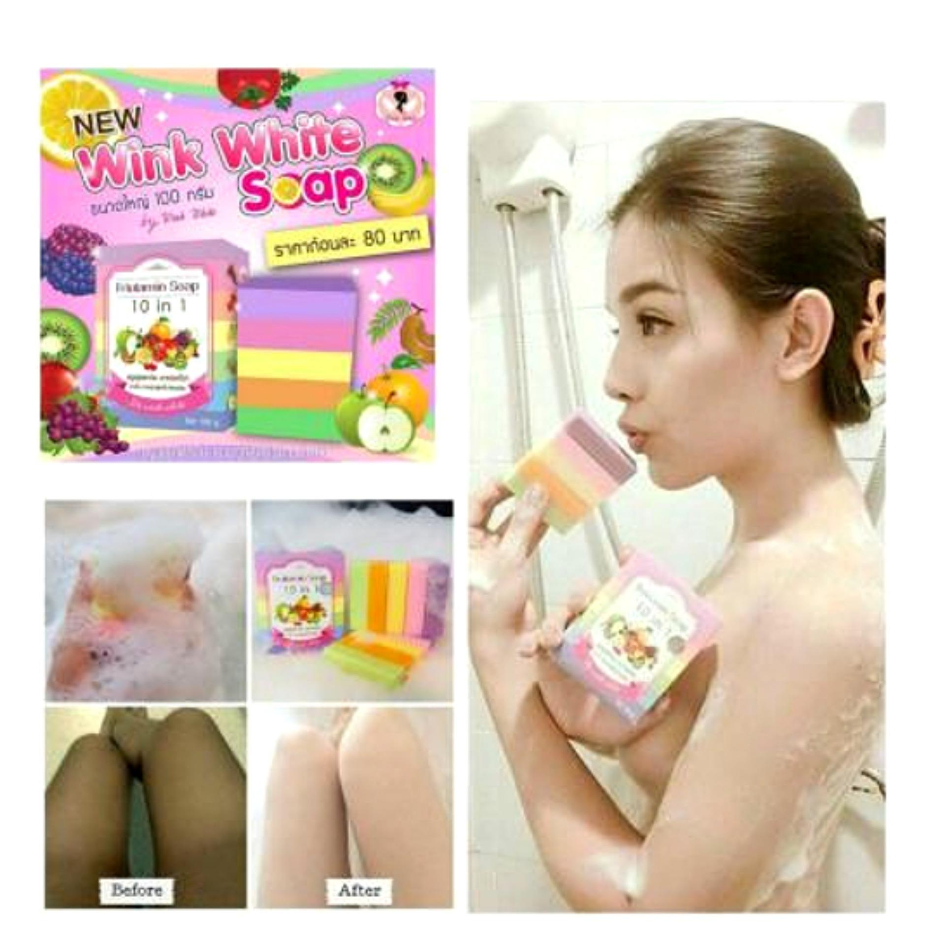 Wink White GoShop Fruitamin Soap 10 in 1 100gr .