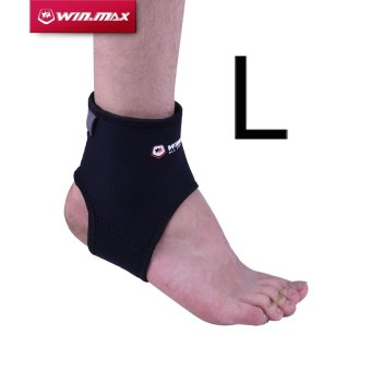 Harga Winmax sport WMF09112 Compression Ankle Support-L (Black) - intl