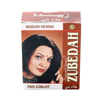 Jual Zubedah Henna Inai Pewarna Rambut Coklat 6 Pcs Murah Daftar