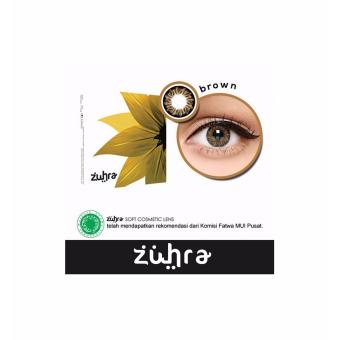 Zuhra Softlens - Brown + Gratis Lenscase