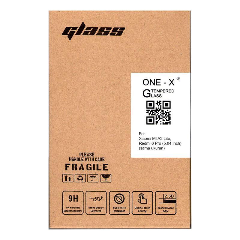 Spesifikasi dari Calandiva ONE-X 2.5D Tempered Glass Xiaomi Mi A2 lite, Redmi 6 Pro (5.84 Inch) (sama ukuran) - CLEAR