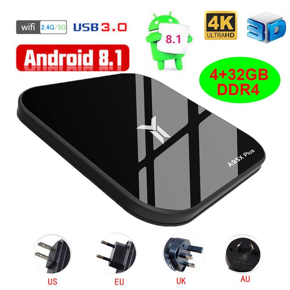 พังงา RD A95X PLUS กล่องทีวี Android 8.1 4 - Core 4 GB + 32 GB DDR4 WiFi 100 Mbps H.265 กล่องสมาร์ททีวี