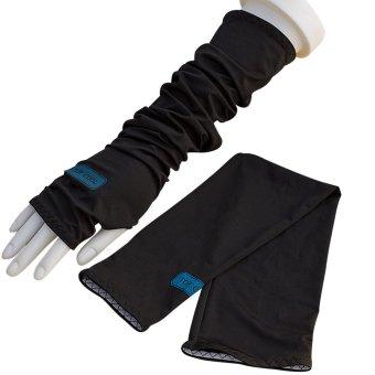1 Pasang Golf bersepeda lengan tangan dingin menutupi sunprotection adapula Hitam
