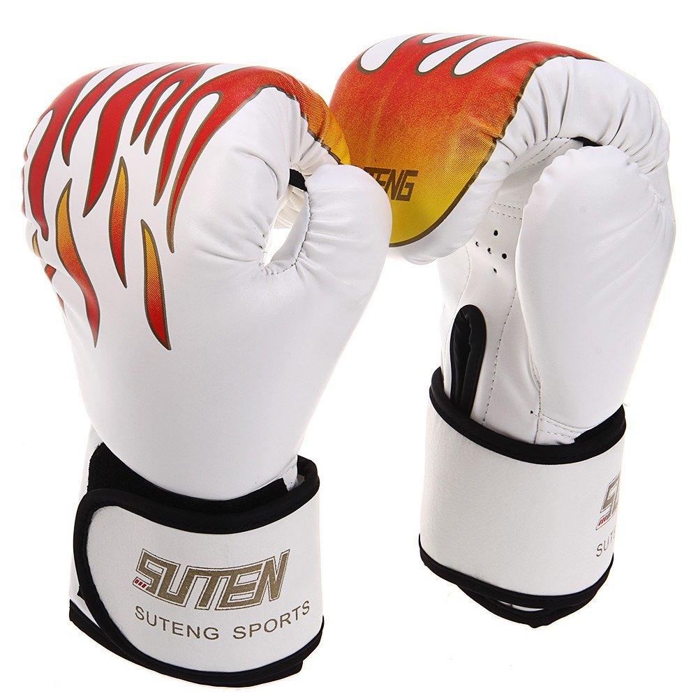 ... 1 Pasang Suten perdebatan Muay Thai Kick Boxing api penggenggampola sarung tangan (putih) ...