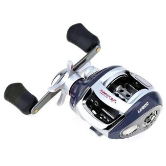 12+1BB 6.3:1 Gear Ratio Stainless Steel Fishing Baitcasting Reel with Magnetic Brake (Left Hand) - intl