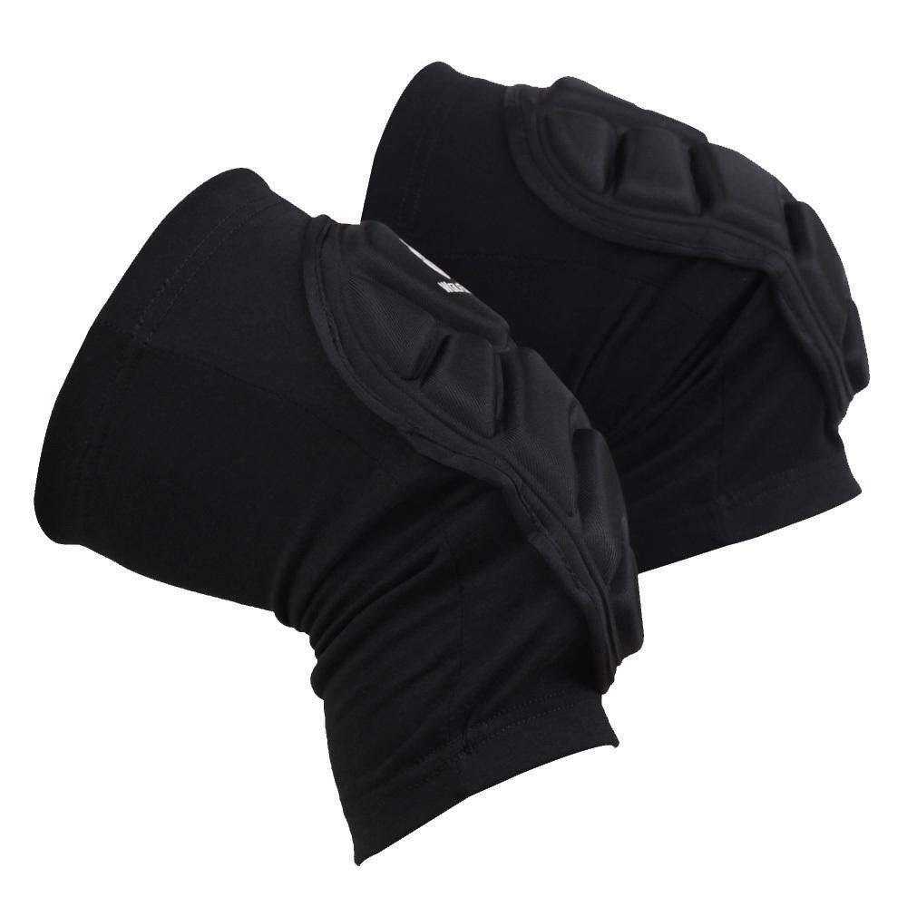 2 Buah Wolfbike Bernapas Elastis Bantalan Lutut Olahraga Bola Basket Sepak Bola Lengan Baju Pelindung Kaki Pelindung Lutut