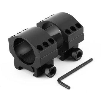 2 Pcs Taktis 30mm Low Profile 6 Bolt Scope Mount Ring Fit 20mm Weaver Picatinny Rail
