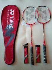 2 raket badminton yonex + tas yonex + 2 grip handuk