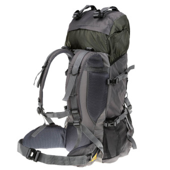 55 Liter Olahraga Luar Ruangan Tas Ransel Trekking Perjalanan Berkemah Mendaki Gunung Tahan Air Paket Pendakian