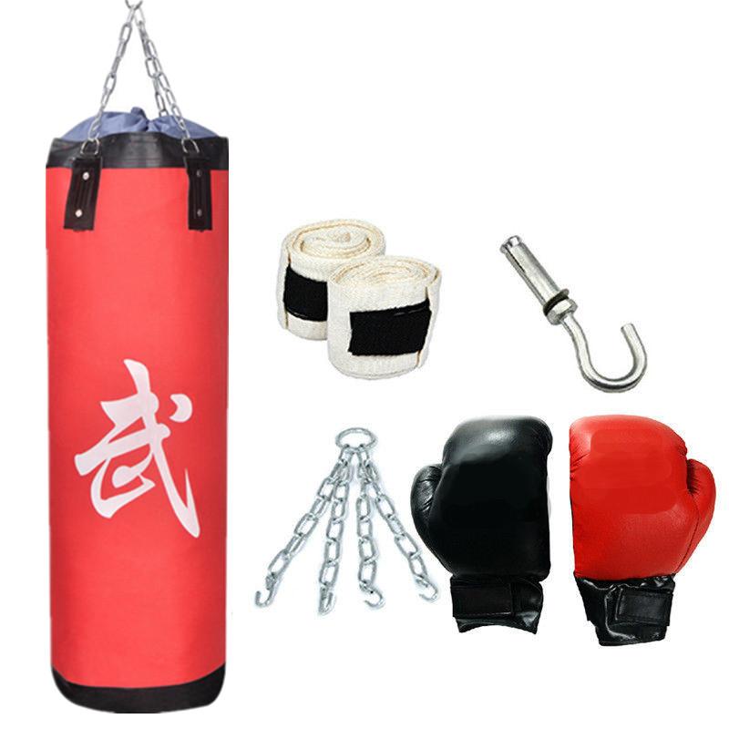 99,06 cm berat kosong tergantung Kit sansak tinju MMA sarung tanganpelatihan dan membungkus - International