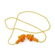 Ai Home 1 Pair Tahan Air Renang String Silicone Earplugs Dewasa Anak Menyelam Soft Ear Plug (Kuning)-Intl