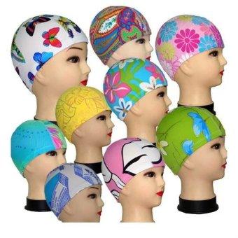 Harga Anak Dewasa Unisex Topi Renang Topi Topi Kain Pantai Motif  BungaBerbagai Macam Warna Desain Terbaru c02571f52e