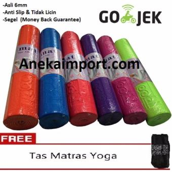 Anekaimportdotcom Matras Yoga 6mm - Merah