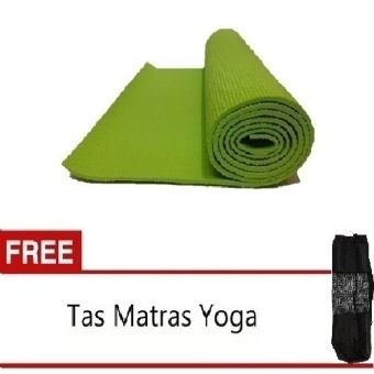 Anekaimportdotcom Matras Yoga - Yoga Mat - Pilates Mat - 6mm Hijau + Gratis Yoga Bag