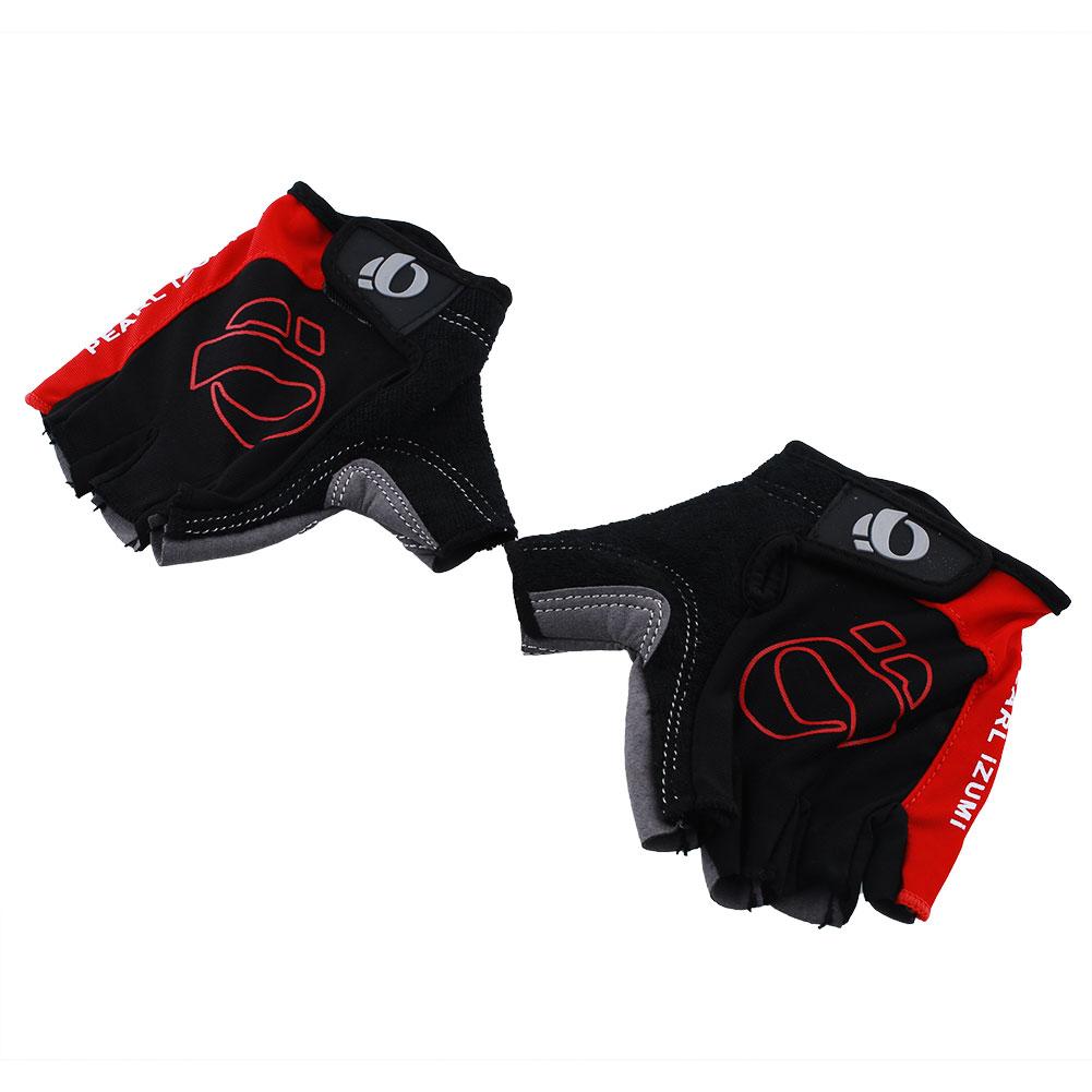 Laki Sepeda Sarung Tangan Bersepeda Ski Mens Rockbros S106 Bike Glove Half Finger Black Anti Slip Tahan Guncangan Berkendara Motor Setengah Jari