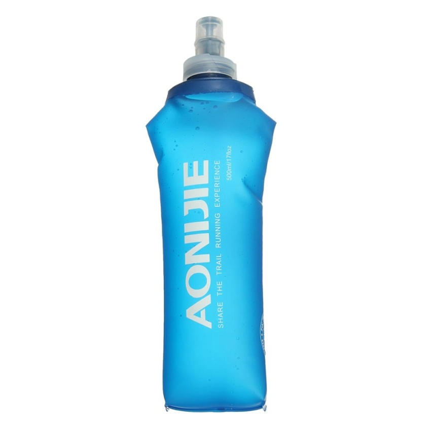 AONIJIE Foldable Soft Flask TPU Outdoor Sports Running Hiking Water Bottle 500ml - intl
