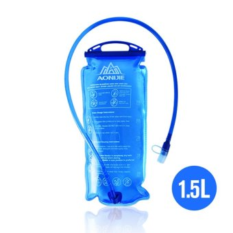 AONIJIE Outdoor Cycling Running Foldable PEVA Water Bag Sport Hydration Bladder for Camping Hiking Climbing 1.5L - intl