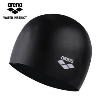 DISKON Arena pria dan wanita dewasa untuk meningkatkan dengan rambut panjang berenang topi renang topi silikon topi renang TERMURAH