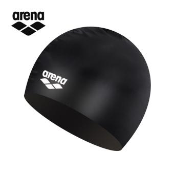 Gambar Arena warna solid tahan air pelatihan renang topi renang topi renang silikon topi renang