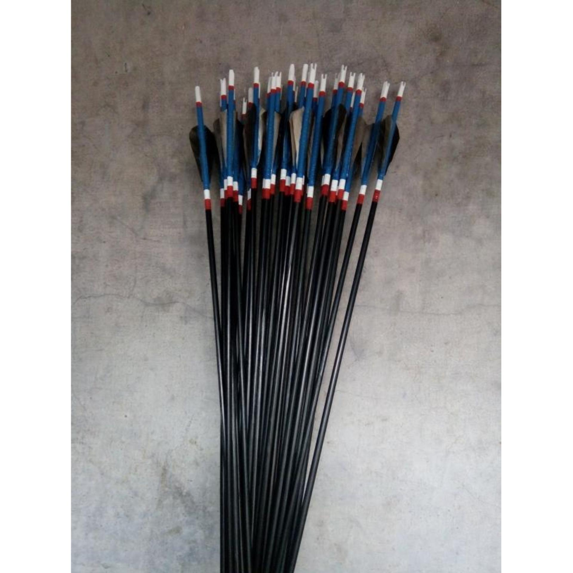 Arrow Anak Panah Bahan Kayu Ramin Fletching Vanes Mata Tajam Lusinan Bare Shaft Fiber 6mm Sp1000 Merah Tanpa Flash Sale