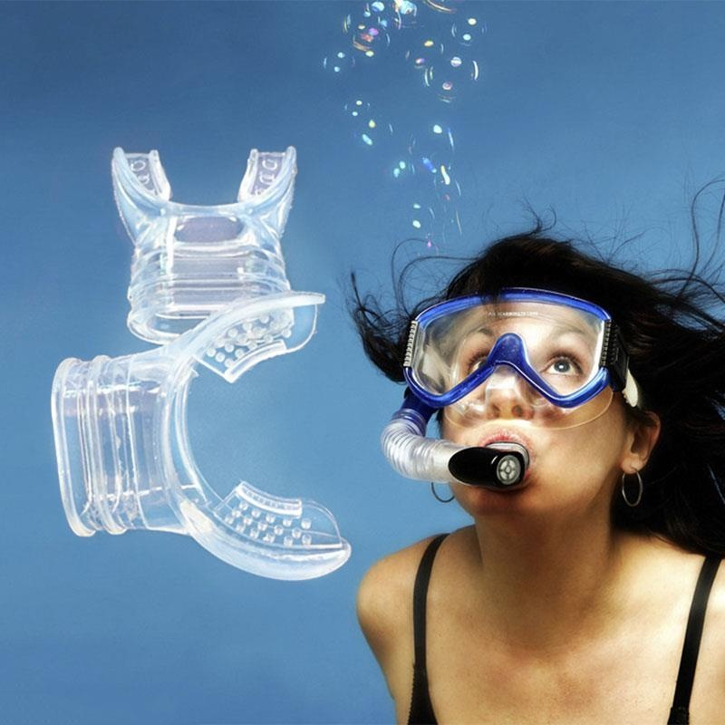 Aukey 0 shipping fee Scuba Diving Snorkel Breathing Tube Sillicone Color Random Close Mouth Good - intl