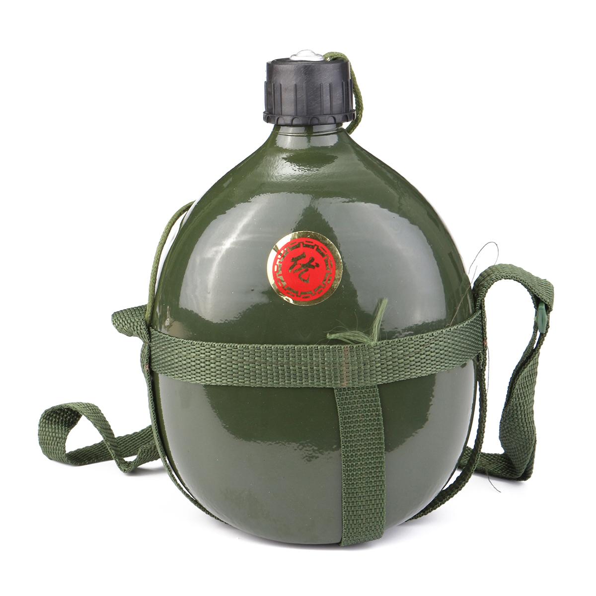 1 Liter Berkemah Di Luar Ruangan Portabel Hijau Tentara Militer Air Botol Minum Aluminium 750ml Baru Dari Bahan Volume 5l