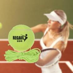 Baru Single Paket Bor Latihan Ketahanan Pelatih Bola Tenis dengan String Penggantian Karet Neon Hijau Wol-Intl