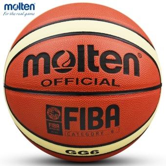Basket Molten GG6 Bola Basket PU Materia Resmi Size6 Basketball Gratis dengan Tas Bersih + Jarum
