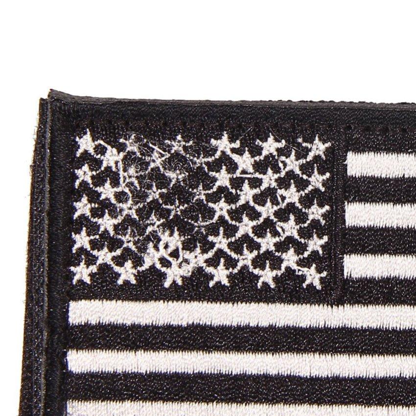 Bendera Amerika Serikat Patch Bordir Patriotik As Taktik Militer Yg Kecil  Hitam . 05c18ffc6f