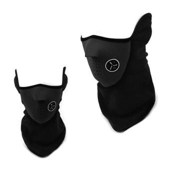 Bersepeda Facial Masker Pelindung Motor Ski Hangat LeherPerlindungan Telinga Hidung Masker Wajah Masker Hitam