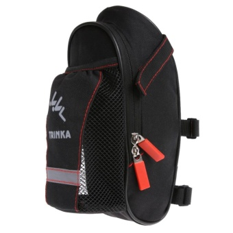 Bicycle Saddle Bag with Water Bottle Pocket MTB Bike Rear Seat Tail Bags - intl
