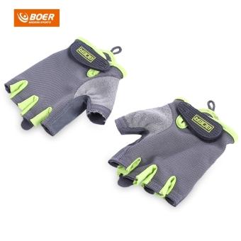 BOER dipasangkan olahraga kebugaran Gym olahraga angkat besi wanita Sarung Tangan setengah jari - Internasional - 3