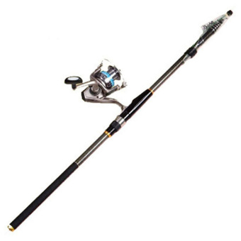 Carbon Telescopic Spinning Casting Pole Saltwater Sea Fishing Rods Portable 4.5M